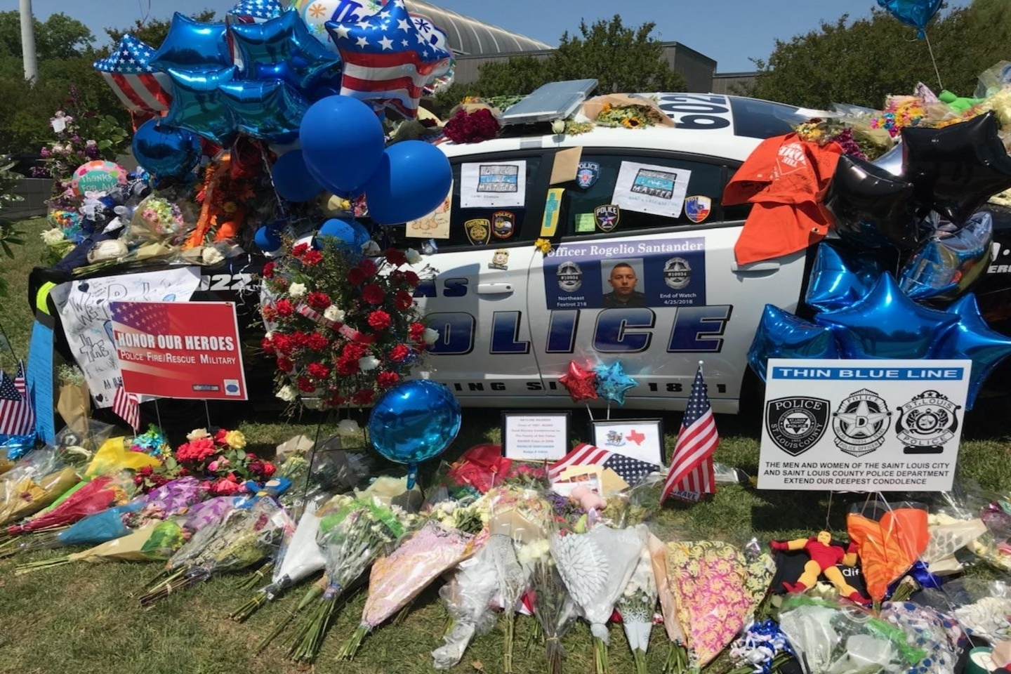 Memorial, Officer Santanders car.