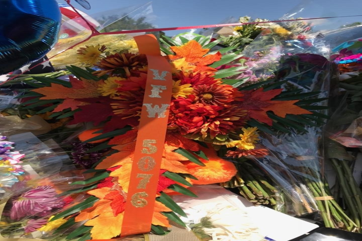 Post 5076 Memorial Wreath.